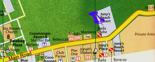 maps for jonys palce